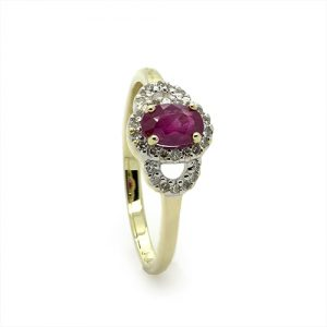 A Stunning Red Ruby Diamond Engagement Ring