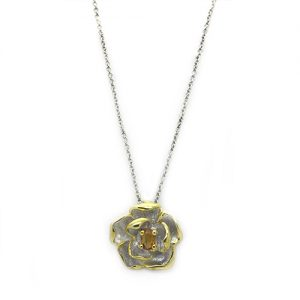 The Citrine Flower Necklace