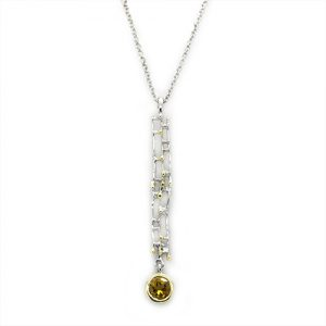 A Charming Citrine Pendant Necklace