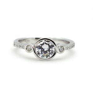 A Fine Silver Engagement Ring