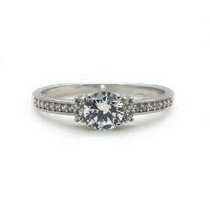 The Dainty Silver Engagement Ring