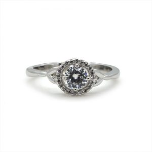 The Unique Silver Engagement Ring