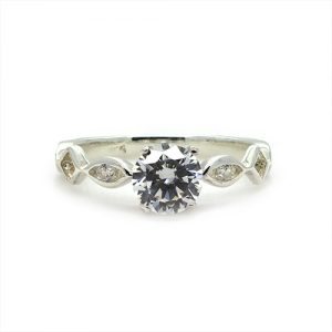 The Fancy Silver Engagement Ring