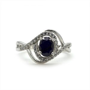 The Fancy Oval Blue Engagement Ring
