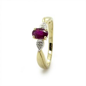 Stunning Ruby Engagement Ring