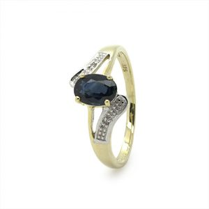 The Wave Sapphire Daimond Ring