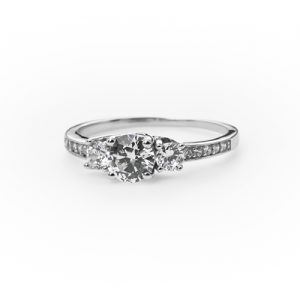The Silver Classic Engagement Ring