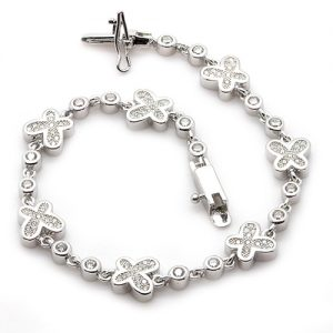 The Flirty Butterfly Ladies Silver Bracelet