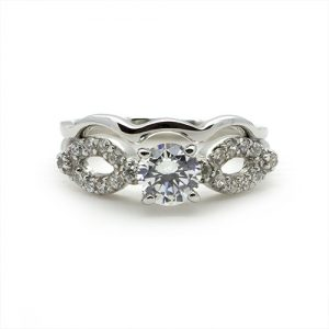 The Wavy Bridal Set of Ring