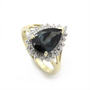 Magnificient Lond Topaz Ring