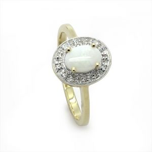 The Opal Halo Engagement Ring