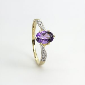 The Oval Amethyst Ring