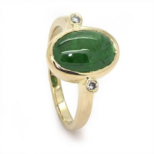 The Tsavorite Diamond Engagement Ring