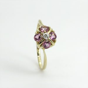 Pretty Pink Tourmaline Engagement Ring