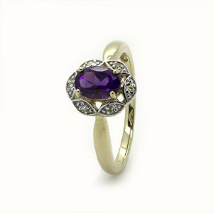 Magnificent Amethyst Diamond Ring