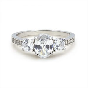 A Stunning Sterling Silver Engagement Ring
