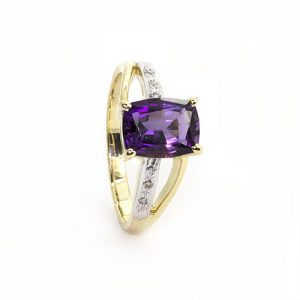 A Stunning Amethyst Engagement Ring