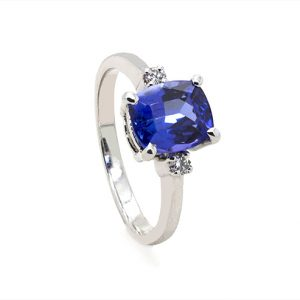 Magnificent Tanzanite Diamond Engagement Ring