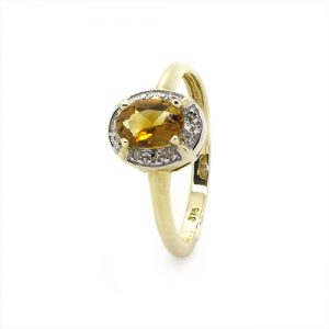 Fiery Citrine Engagement Ring