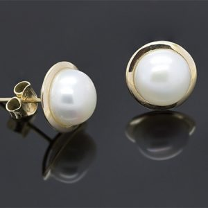 A Stunning Pair of 9.5mm Pearl Earrings