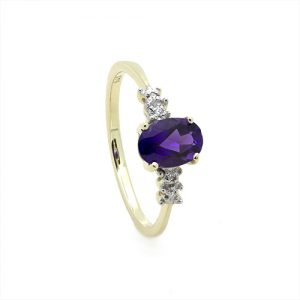An Amazing Amethyst and Diamond Engagement Ring