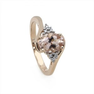 Exclusive Morganite and Diamond Engagement Ring