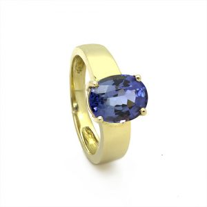 A Delightful Tanzanite Engagement Ring